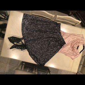 Sequins circle skirt